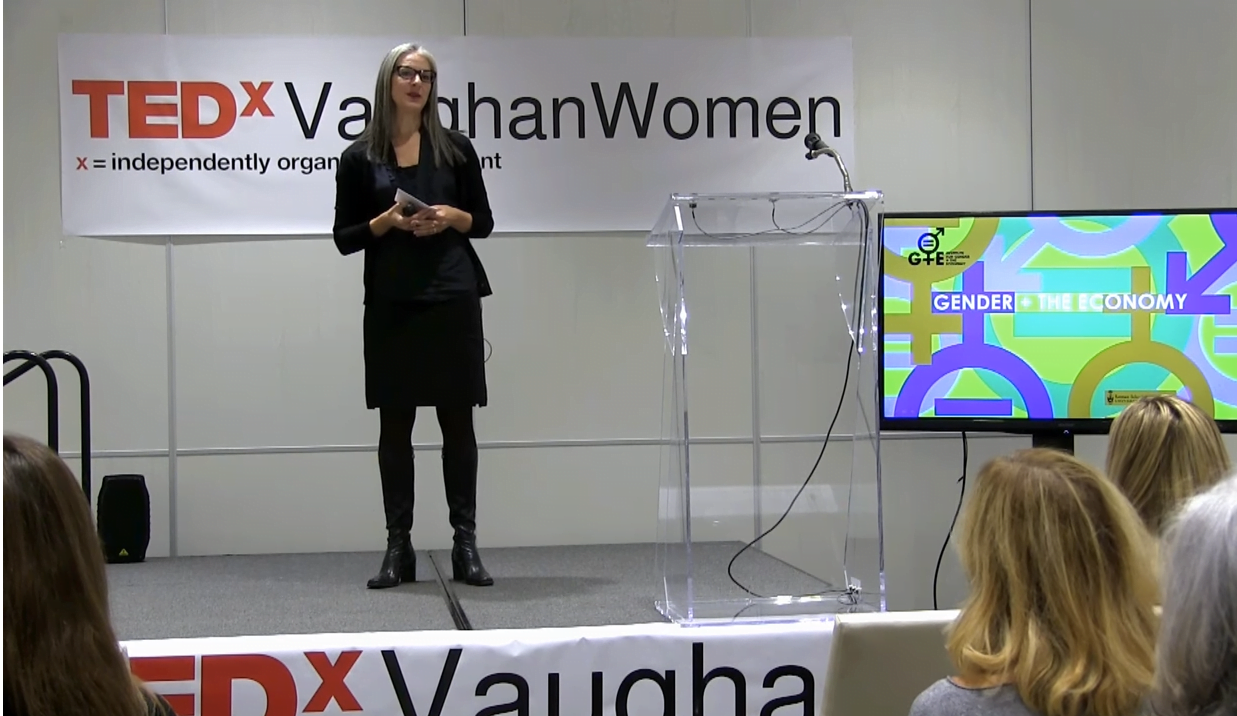 Sarah Kaplan presents at TEDx talk