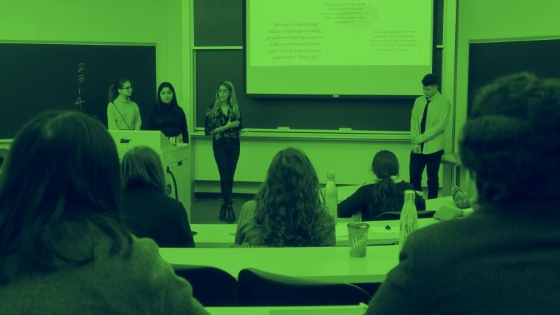Rotman students present their findings in the Design course