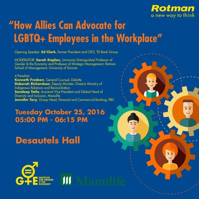 How to advocate for LGBTQ+ employees event poster