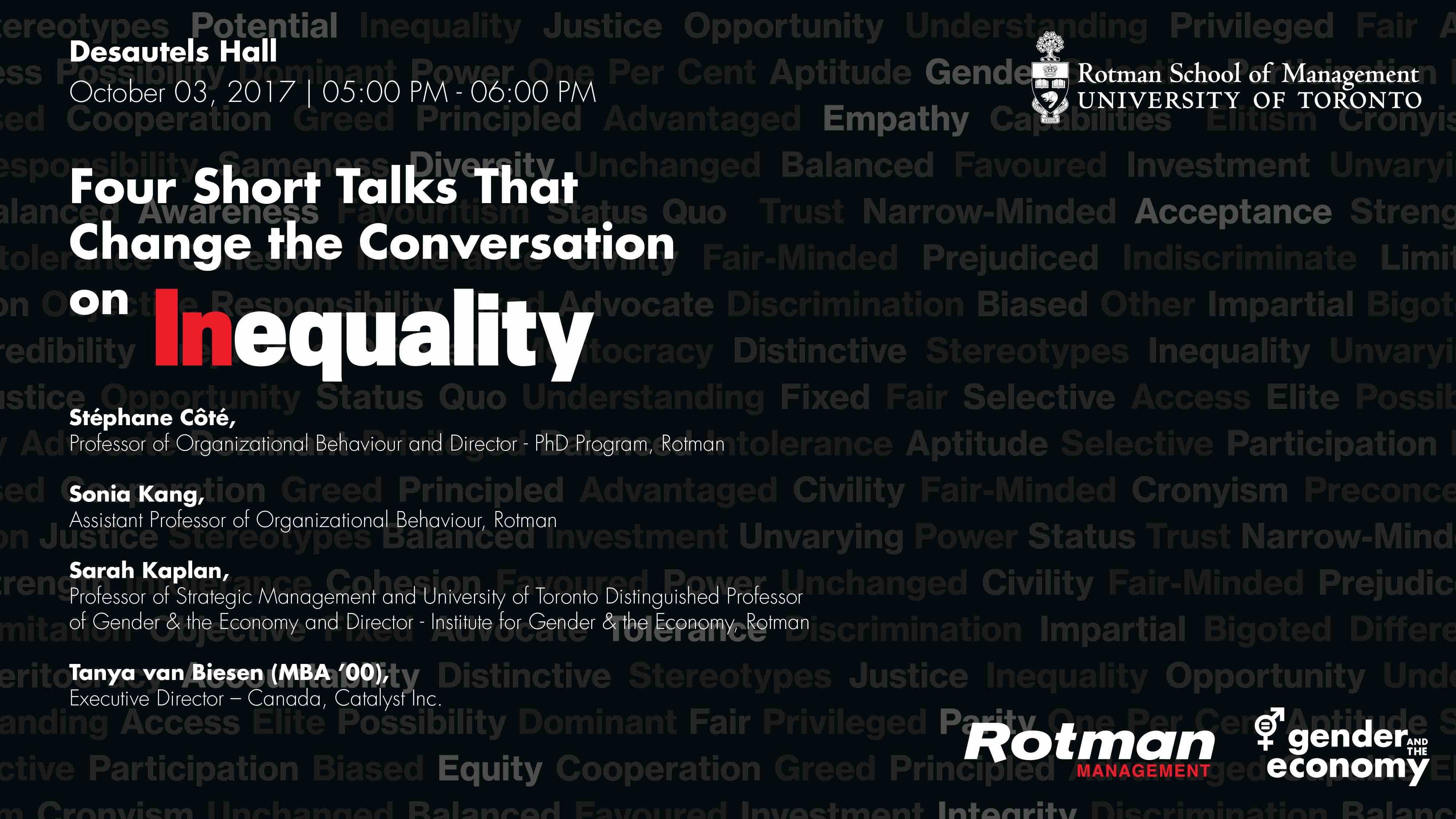 Rotman Management Magazine Talk on Inequality - Media Wall Graphic