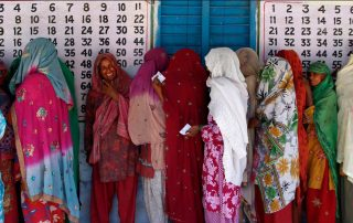 Group of South Asian Women lining up