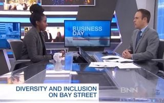 "Hadiya Roderique appears on BNN to discuss her ""Black on Bay Street"" essay"