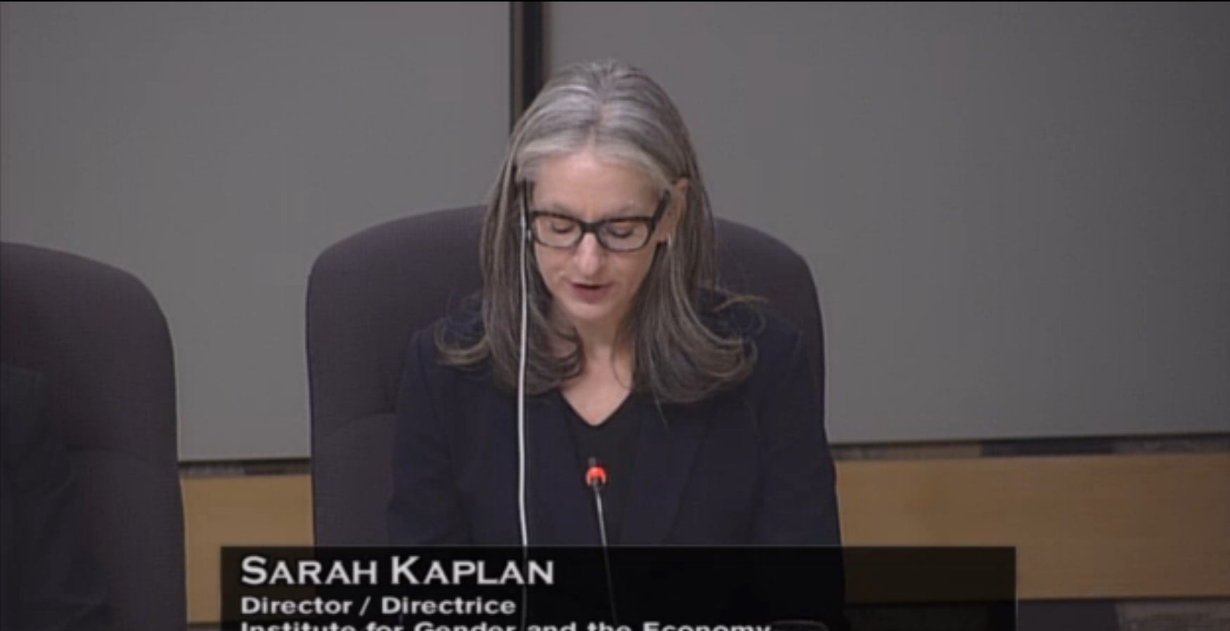 Sarah Kaplan appears before Standing Senate Committee on Banking, Trade and Commerce