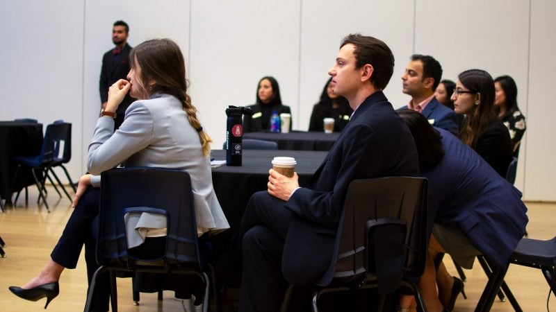 Attendees at the Letters' Diversity and Inclusion Case Competition | Fall 2018