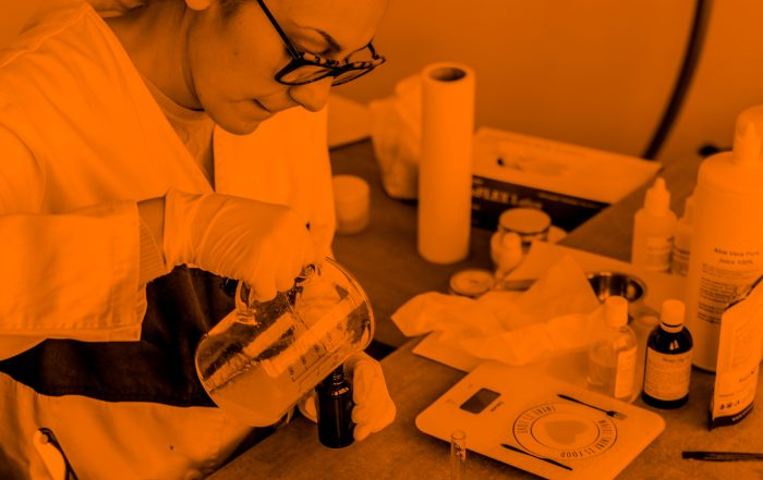 A woman scientist in a lab