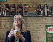 Balzac's Coffee founder Diana Olsen in one of her 15 locations.