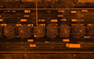 Cars driving on the highway