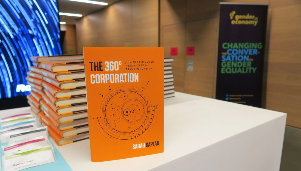 "Book cover of ""The 360° Corporation: From Stakeholder Trade-offs to Transformation"", by Sarah Kaplan"