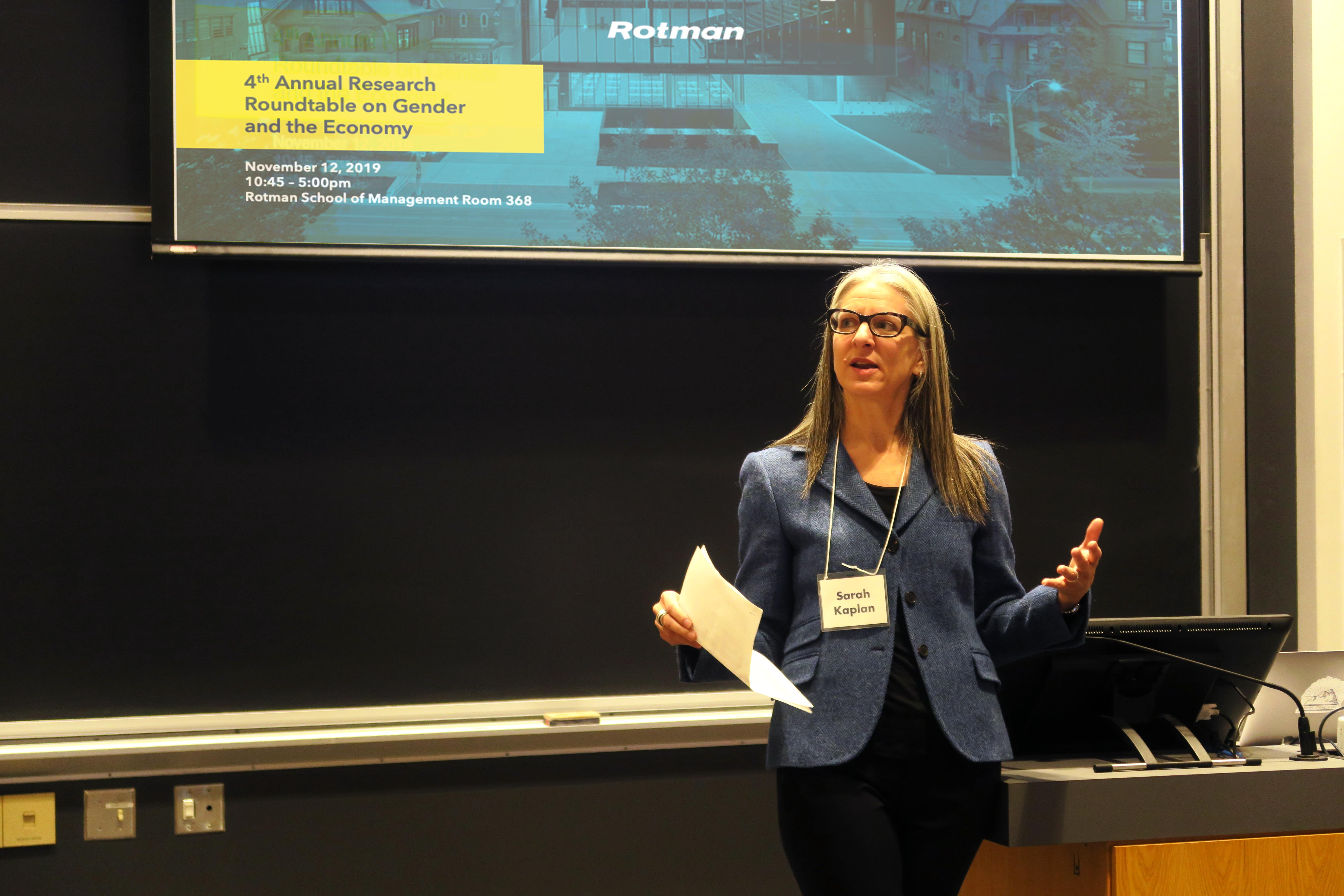 Sarah Kaplan introduces the 4th Annual Research Roundtable