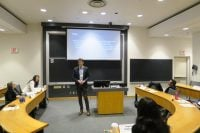 Stefan Dimitriadis presents his research at GATE's 4th annual research roundtable