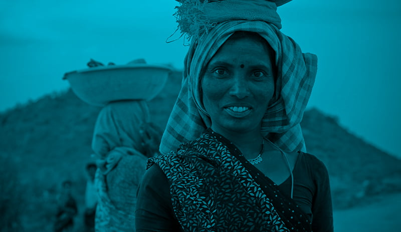 Working Indian woman