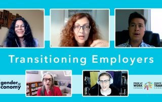 Transitioning Employers Screencap of Zoom livestream