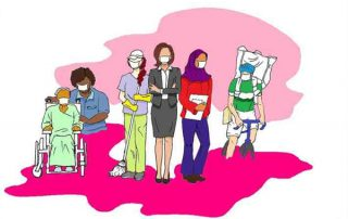Illustration of females in the workforce