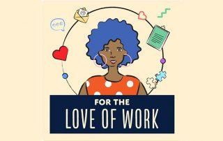 Illustration of women surrounded by icons representing a work life balance
